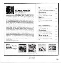 Luz Cámara Música - Sólo para Melómanos: George Martin Instrumentally Salutes The Beatle Girls - 1966 George Martin, The Beatles, Sayings, Lights, Lyrics, Beatles, Quotations, Idioms, Quote
