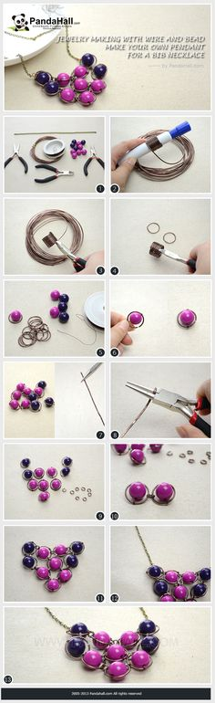 Jewelry Making with Wire and Bead - Make Your Own Pendant for a Bib Necklace
