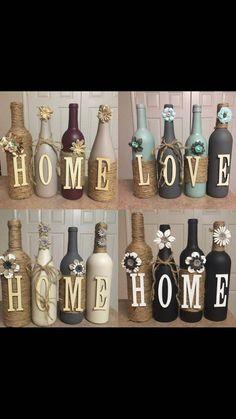 Wine Bottle Art, Glass Bottle Crafts, Painted Wine Bottles, Diy Bottle, Beer Bottle, Vintage Bottles, Vintage Perfume, Wine Bottle Centerpieces, Diy Centerpieces