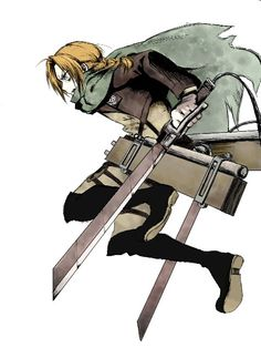 Ooohh Ed in proper SnK gear | FMA x SnK crossover