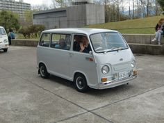 Grey Over seas version Retro Cars, Vintage Cars, Kei Car, Microcar, Subaru Cars, Miniature Cars, Cool Vans, Mini Trucks, Cute Cars