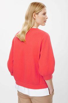 COS   Dot embossed sweatshirt