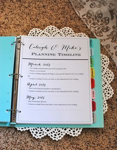 oh how darling: The Wedding Planner  So making one of these! http://eweddingssecrets.com/top-10-wedding-gifts-to-give-to-a-newlyweds.html