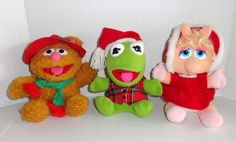 Christmas Muppets Plush Kermit the Frog, Fozzie Bear, Miss Piggy #coolchristmasitems