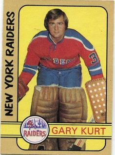 Gary Kurt 1972-73 WHA New York Raiders