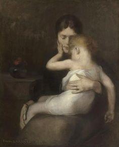 """The Sick Child"""" 1885  Eugène Carrière....cosi intenso e bello"""