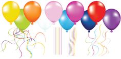 Large Balloons Transparent Clipart