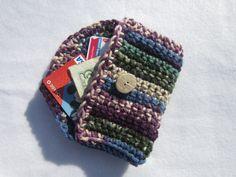 Crocheted Purse Pouch in Multicolors by crochetedbycharlene, $8.00