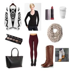 Infinity scarf & leg warmers give this #fall #outfit a bit of seasonal pizzazz