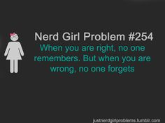nerd girl problems | Nerd Girl Problems: Photo