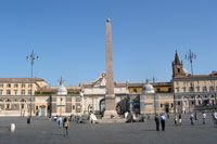 Piazza del Popolo is place to start shopping.