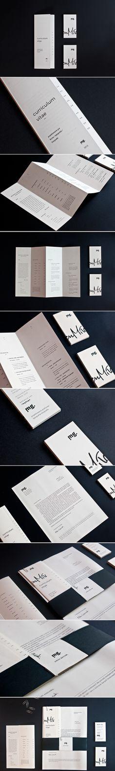 CV folder (mailer) - Quad'fold brochure - Self prom.