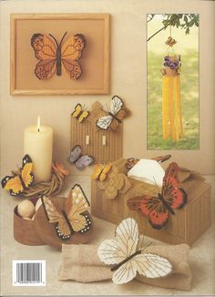 More Butterflies In Plastic Canvas Leisure by KnitKnacksCreations