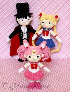 Sailor Chibi Mini Moon Crochet Amigurumi Doll