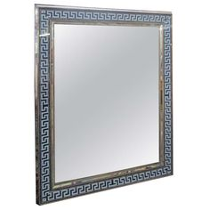 Reverse-Painted Rectangular Mirror With Greek Key pattern | From a unique collection of antique and modern wall mirrors at http://www.1stdibs.com/furniture/mirrors/wall-mirrors/