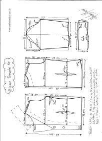 Esquema de modelagem do Blazer com Gola Tradicional tamanho 50.