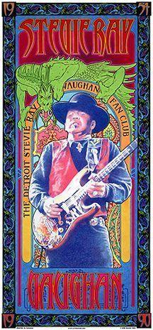 stevie ray vaughn original concert poster - Google Search