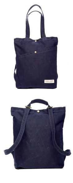 This Stone + Cloth tote bag also converts into a backpack to accommodate…