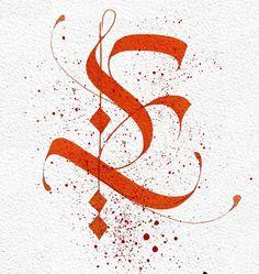 Flourish Calligraphy, Calligraphy Handwriting, Calligraphy Letters, Penmanship, Graffiti Lettering Fonts, Typography Alphabet, Hand Lettering, Go Logo, Drop Cap