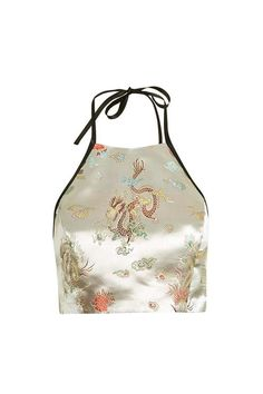 Oriental halter top by Topshop Finds