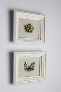 Framed brooches, adds a bit of glam and totally reminds me of my godmother <3