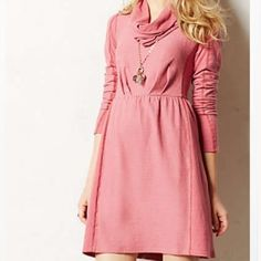 Anthro Alcott Dress Sold!!! Worn once. Pretty and cute pink Alcott dress from Anthro. Price is firm because I don't mind keeping it. Sold out in this size online. Anthropologie Dresses