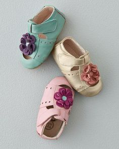 Livie & Luca Flower Sandals and Crib Shoes