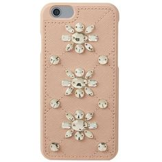 MICHAEL Michael Kors Crystal Embellished iPhone 6 Case ($85) ❤ liked on Polyvore featuring accessories, tech accessories, phone, phone cases, extras, fillers and michael michael kors