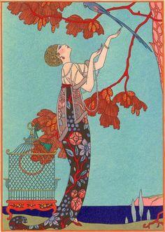 Illustration by George Barbier (1882-1932), 1914.