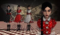 Polkadots Dress by Brusya Alice Liddell, Alice Madness Returns, Visual Memory, Alice In Wonderland, My Hero, Polka Dots, Fandom, Asylum, American