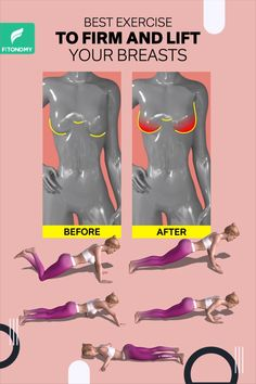 Do you wish your breasts were bigger? You can strength train your chest muscles to increase their mass, which will, in turn, make your whole chest look fuller and bigger. So give it a try to these exercises to lift your breasts naturally. Fitness Workouts, Gym Workout Videos, Gym Workout For Beginners, Fitness Workout For Women, At Home Workouts, Fitness Motivation, Health And Fitness Expo, Full Body Gym Workout, Chest Muscles