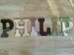 Custome nursery wall letters.. macknbeanbowtique/facebook