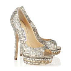 """Jimmy Choo Pumps--style appropriately named """"Kendall"""" .....and they are perfect for me, tall, glittery, dramatic and over priced :)"""