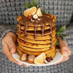 Pancakes de batata que aceleran el metabolismo - Green Vivant Waffles, Pancakes, Breakfast Desayunos, Crepes, Soul Food, Health Fitness, Healthy Recipes, Cooking, Sweet