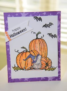 SUPPLIES: Stamps (All Penny Black) Pumpkins (40-145); Halloween Critters…
