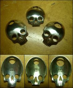 New silver skull pendant trio by 20111321