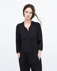 Image 2 of JUMPSUIT WITH LONG LAPELS from Zara
