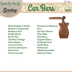 Scentsy - On The Go - Car Bars Fall/Winter 2016 Flyer By: Brittany McKee (Gerrity) Admin Of: No-Nonsense Canadian Flyers Sharing Group on Facebook www.brittanygerrity.scentsy.ca