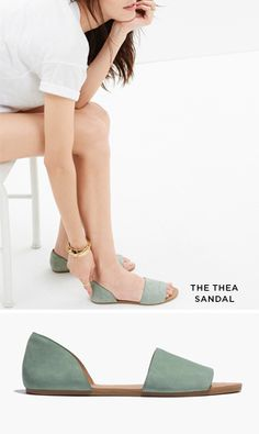 Awesome Mint Suede Sandals