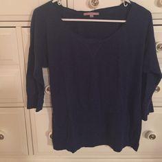 Gap 3/4 sleeve Shirt Dark blue, light t-shirt material, 3/4 length sleeves GAP Tops