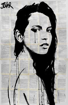 "Saatchi Online Artist: Loui Jover; Ink 2013 Drawing ""storm"""