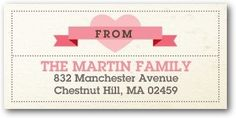 Return Address Labels Celebrate First - Front : Watermelon