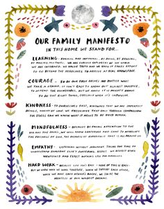 Family Manifesto Art Print