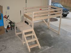 Awesome Kid's Loft Bed with Stairs. $300.00, via Etsy.