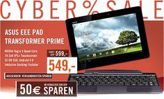 Asus EEE Pad Transformer Prime: Nur heute, den 09.07.2012 für 549 € bei http://www.cyberport.de/cybersale