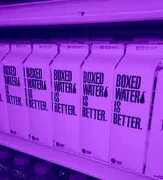 is boxed water the new bagged milk