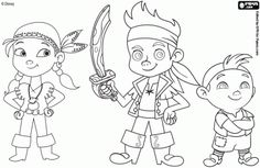 jake the neverland printable izzy coloring sheet