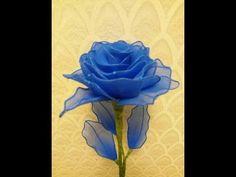 How to make nylon stocking flowers - Carnation - YouTube