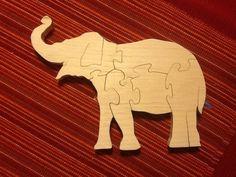 Elephant scroll saw puzzle
