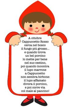 """fiabastrocca """"cappuccetto rosso"""" English Rhymes, Nursery Rhymes Preschool, Rhymes For Kids, Vintage School, Italian Language, Learning Italian, Child And Child, Kids Songs, Cute Images"""